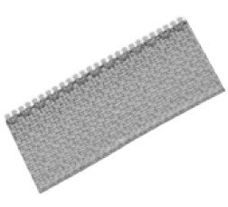 Crémaillère de la toile screen Zip100 type fermeture éclaire, zip