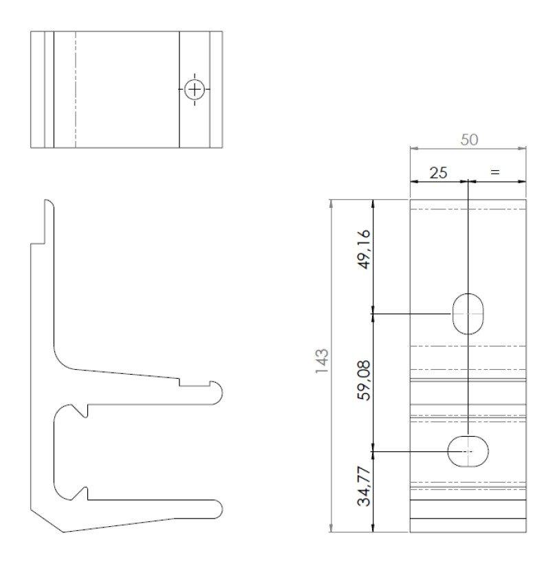 Cotes support façade monobloc